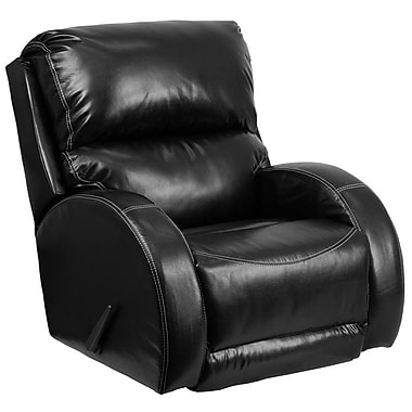 Flash Furniture – Fauteuil berçant inclinable contemporain Ty, cuir noir (WA4990622)