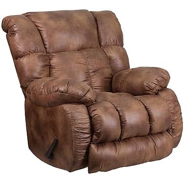 Flash Furniture – Fauteuil berçant inclinable contemporain Comfort Padre avec bonne aération, tissu amande (WA8230691)