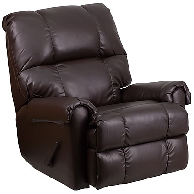 Flash Furniture Contemporary Ty Chocolate Leather Rocker Recliner (WM8700620) 2108791