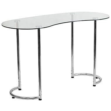 Flash Furniture – Bureau contemporain avec verre trempé transparent (NANYLCD1235)