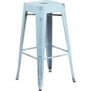 Flash Furniture 30'' High Backless Distressed Metal Indoor Barstool, Dream Blue (ETBT350330DB)