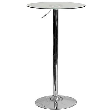 Flash Furniture – Table en verre d'un diamètre de 23,5 po, hauteur ajustable de 33,5 à 41 po (CH5)