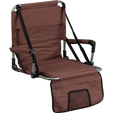 Flash Furniture Folding Stadium Chair, Brown (TY2710BN)