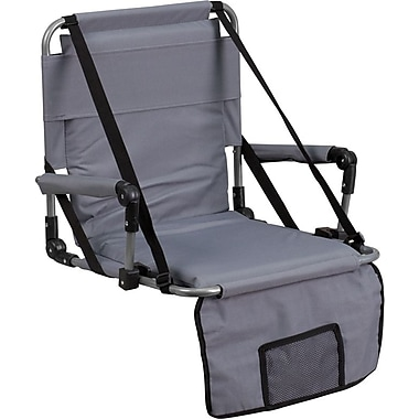 Flash Furniture Folding Stadium Chair, Gray (TY2710GY)