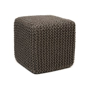 Anji Mountain Gray Jute Pouf Square (AMB0002-1818)