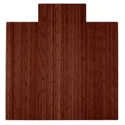 "Anji Mountain Roll-Up Bamboo Chair Mat, Standard Lip, 55"" x 57"", Walnut"