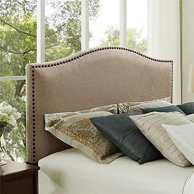 Dorel Living Full/Queen Linen Headboard with Studs, Beige