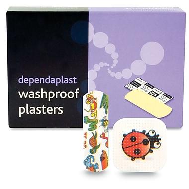 Pansements adhésifs Dependplast en tissu de couleurs assorties, résistants au lavage, paquet de 100