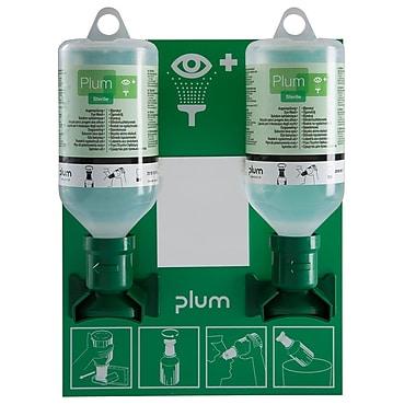 Plum – Petit poste de lavage à support ouvert pour deux bouteilles salines de 500 mL avec œilleton, stérile
