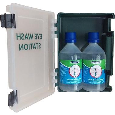 Astroplast Wall Mount Eyewash Kit with 2 x 500mL Sterile Saline Bottles, Dustproof