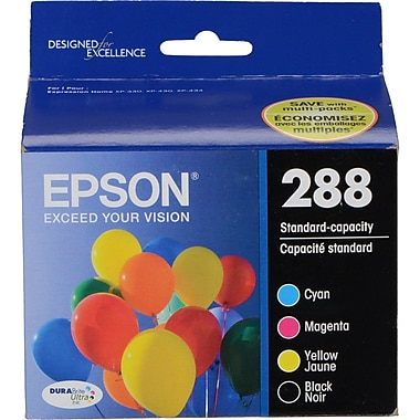 Epson 288 DURABrite Ultra (T288120-BCS), Black/Colour Combo Ink Cartridges, Standard Capacity