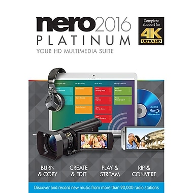 Nero – Logiciel multimédia 2016 Platinum pour Windows (1 utilisateur) [téléchargement]