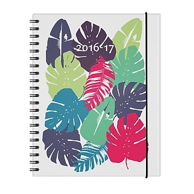 W. Maxwell 2016/2017 Kiboe Weekly Academic Planner, 8-3/8'' x 10-7/8'', Jungle, Bilingual