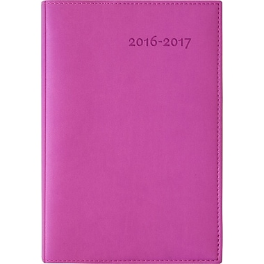 W. Maxwell 2016/2017 Poloe Daily Academic Planner, 5'' x 7-1/4'', Pink, Bilingual