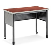 "OFM Mesa Series Standing Height Training Table/Desk with Drawers 27.75"" x 47.25"", Cherry (66121-CHY)"