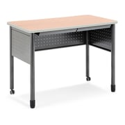 "OFM Mesa Series Standing Height Training Table/Desk with Drawers 27.75"" x 47.25"", Maple (66121-MPL)"