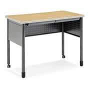 "OFM Mesa Series Standing Height Training Table/Desk with Drawers 27.75"" x 47.25"", Oak (66121-OAK)"