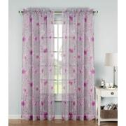 Window Elements Pamela Sheer Single Curtain Panel; Pink