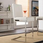 Wholesale Interiors Baxton Studio 28'' Bar Stool (Set of 2); White