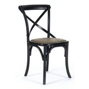 Zentique Inc. Parisienne Cafe Side Chair; Black