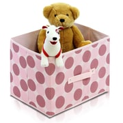 Furinno Laci Dot Soft Storage Organizer (Set of 3); Cherry Pink