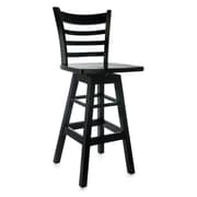 Benkel Seating Ladder 30'' Swivel Bar Stool; Black