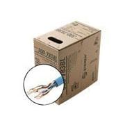 STEREN® 300-793 1000' Bare Wire UTP Plenum Cat5e Bulk Cable, Blue