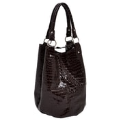 Parinda Adria Brown Croco Embossed Faux Leather Tote (02032)