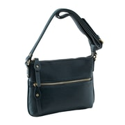 Parinda Ashen Navy Textured Faux Leather Crossbody (11138)