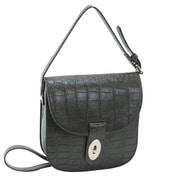 Parinda Maya Gray Textured Faux Leather Crossbody (11143)