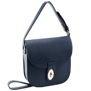 Parinda Maya Navy Textured Faux Leather Crossbody (11148)