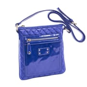 Parinda Emet Blue Quilted Faux Leather Crossbody (11198)