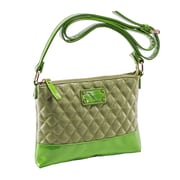 Parinda Cara Green Quilted Faux Leather Crossbody (11201)