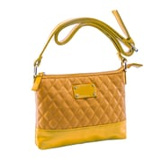 Parinda Cara Mustard Tan Quilted Faux Leather Crossbody (11204)