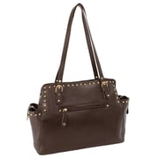 Parinda Felicity Brown Pebble Grain Faux Leather Tote (11254)