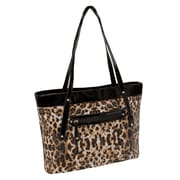 Parinda Fiona Leopard Quilted Faux Leather Tote (11287)