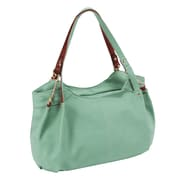 Parinda Arianna Green Pebble Grain Faux Leather Handbag (11291)