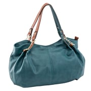 Parinda Arianna Dark Green Pebble Grain Faux Leather Handbag (11292)