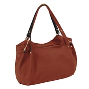 Parinda Arianna Brown Pebble Grain Faux Leather Handbag (11294)