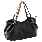 Parinda Arianna Black Pebble Grain Faux Leather Handbag (11295)