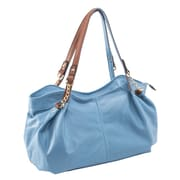Parinda Arianna Aqua Blue Pebble Grain Faux Leather Handbag (11296)