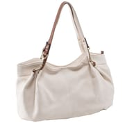 Parinda Arianna Sand Pebble Grain Faux Leather Handbag (11297)