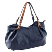 Parinda Arianna Navy Pebble Grain Faux Leather Handbag (11298)