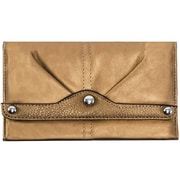 Parinda Eveline Bronze Faux Leather Tri-Fold Snap Closure Wallet (11302)