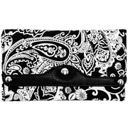 Parinda Madaline Black Paisley Tri-Fold Snap Closure Wallet (11315)