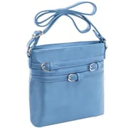 Parinda Clarice Ii Aqua Blue Faux Leather Crossbody (11336)