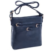 Parinda Clarice Ii Navy Faux Leather Crossbody (11338)