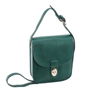 Parinda Maya Ii Green Faux Leather Crossbody (11341)