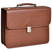 McKlein USA Ashburn S Series Brown Pebble Grain Calfskin Leather Laptop Case (15144)