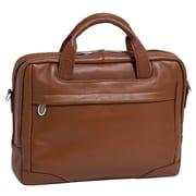 McKlein USA Bronzeville S Series Brown Pebble Grain Calfskin Leather Laptop Brief (15484)